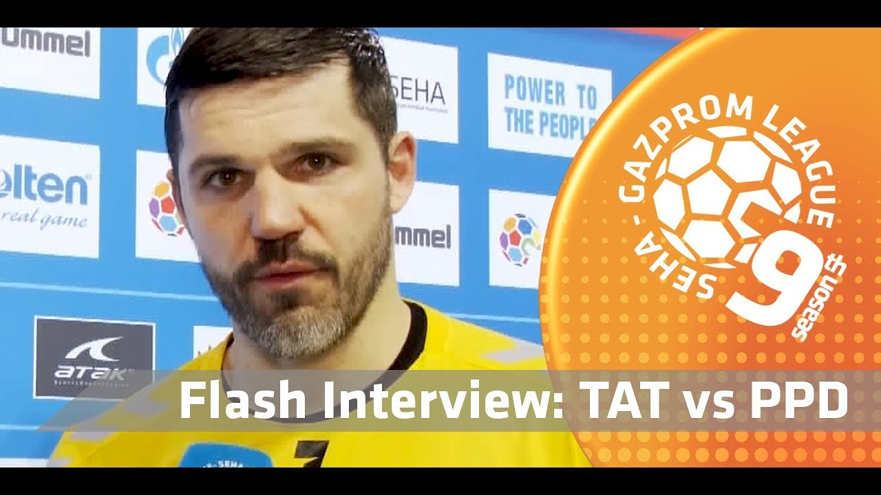 Embedded thumbnail for Tatran Prešov vs. PPD Zagreb - Flash interview